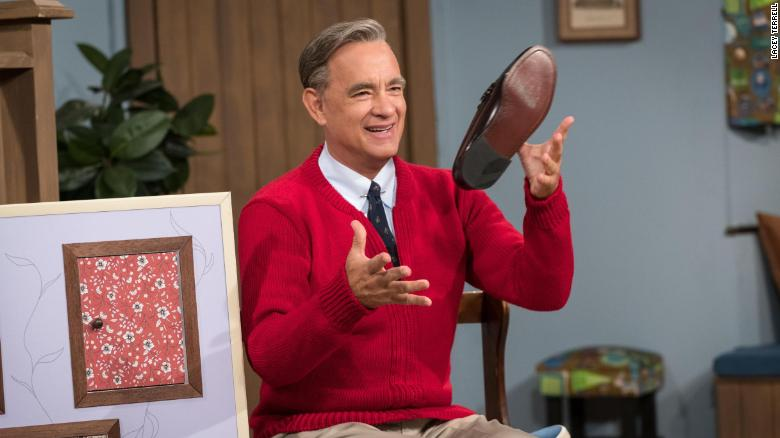 Tom Hanks as Mister Rogers in 'A Beautiful Day in the Neighborhood' (Lacey Terrell)
