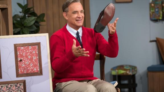 Tom Hanks as Mister Rogers in