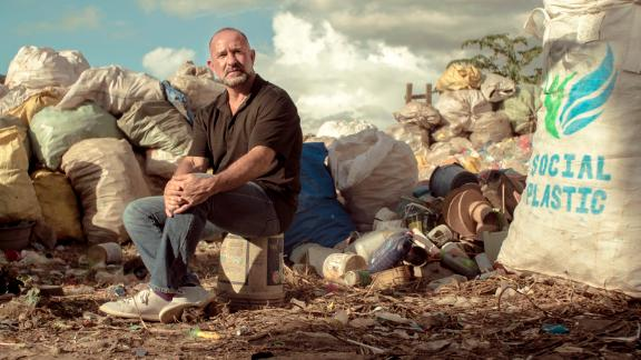 Plastic Bank CEO and founder David Katz in Haiti, where the company currently has its most extensive collection network.