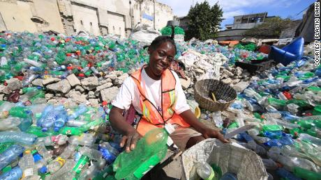 Plastic Bank say its full-time collectors in Haiti are on average 63% above the poverty line thanks to the income they make from the scheme.