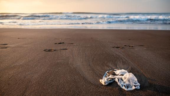 Plastic washed up on the beach in Indonesia, where Plastic Bank has collaborated with household goods giant SC Johnson to set up its collection store.