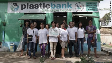 Plastic Banks' collection center in  Naga City, Philippines. CEO David Katz told CNN the company has plans to expand into Egypt, Colombia and Vietnam shortly.
