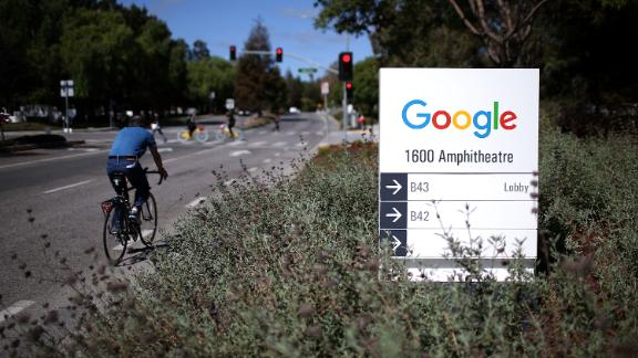 MOUNTAIN VIEW, CA - SEPTEMBER 02:  The new Google logo is displayed on a sign outside of the Google headquarters on September 2, 2015 in Mountain View, California.  Google has made the most dramatic change to their logo since 1999 and have replaced their signature serif font with a new typeface called Product Sans.  (Photo by Justin Sullivan/Getty Images)