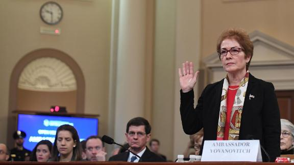 Former US Ambassador to the Ukraine Marie Yovanovitch testifies before the House Permanent Select Committee on Intelligence as part of the impeachment inquiry into US President Donald Trump, on Capitol Hill on November 15, 2019 in Washington DC.