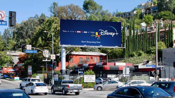 """Bart Simpson has been popping up on Disney+ billboards, reminding people its the streaming home of """"The Simpsons."""""""