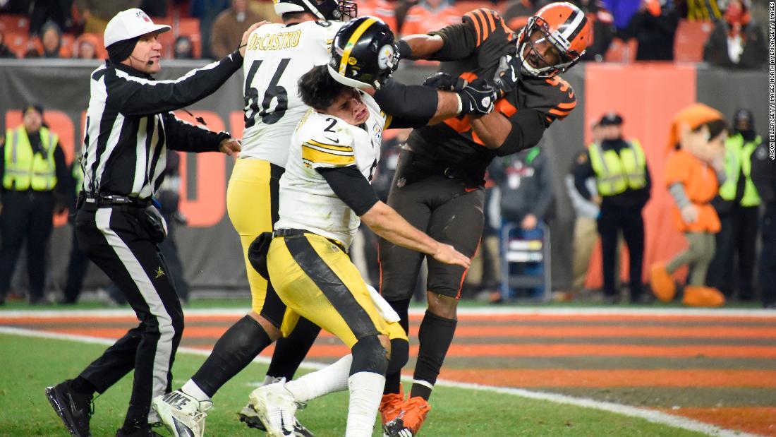 NFL κλάδους 33 παίκτες Στίλερς-Browns φιλονικία, πηγή λέει