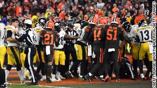 Browns Win Over The Steelers Ends In A Helmet Swing And A