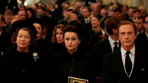 Helena Bonham Carter, center, plays Princess Margaret.