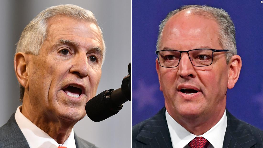 Louisiana Gouverneur das Rennen in der Nähe mit 90% der Bezirke Berichterstattung