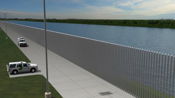 This illustration shows the roadway that would also be incorporated into the barrier design.