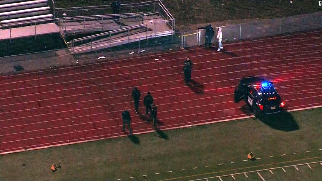 5 men are arrested after a shooting at high school football game injures 3