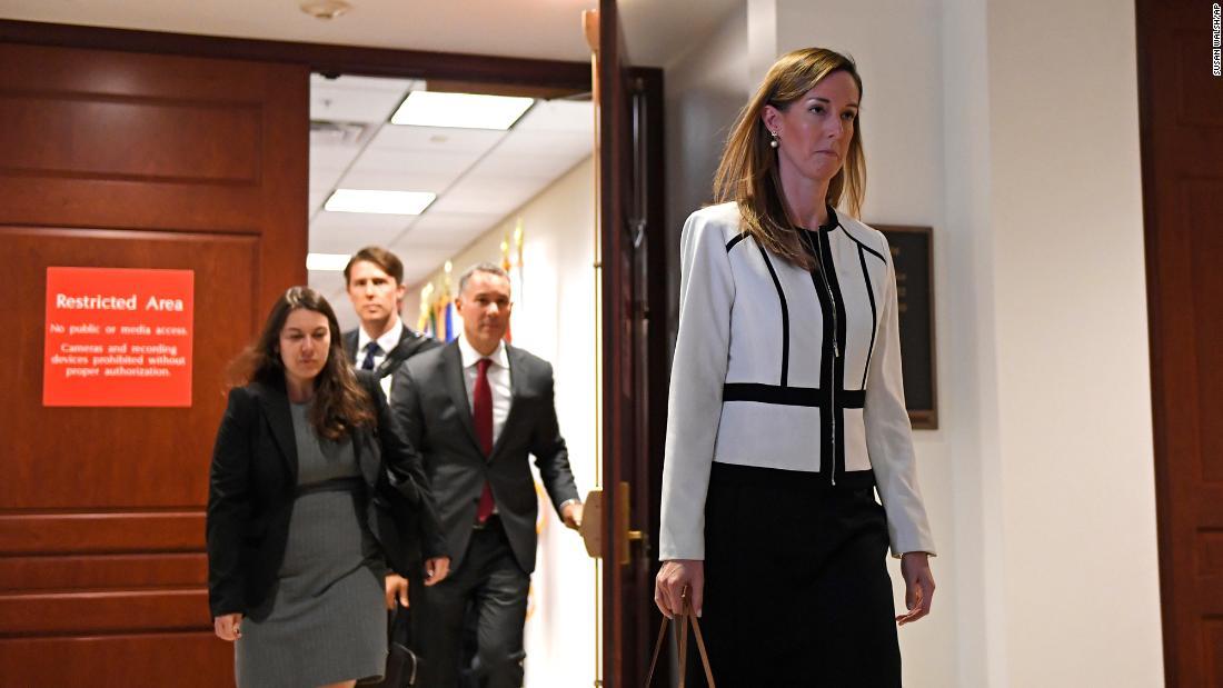 Haus impeachment-Absetzung Transkripte des Weißen Hauses Berater und Adjutant des stellvertretenden Präsidenten veröffentlicht
