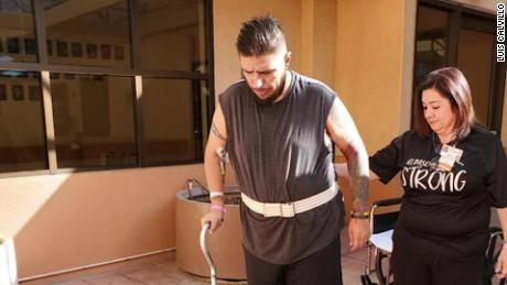 He was shot five times at El Paso Walmart and spent two months in hospitals.  This is his struggle for his life back