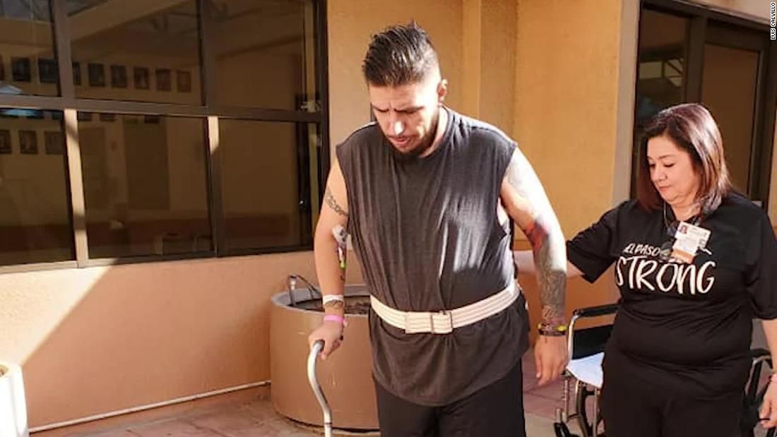 He was shot 5 times at the El Paso Walmart and spent 2 months at hospitals. This is his fight to get back his life