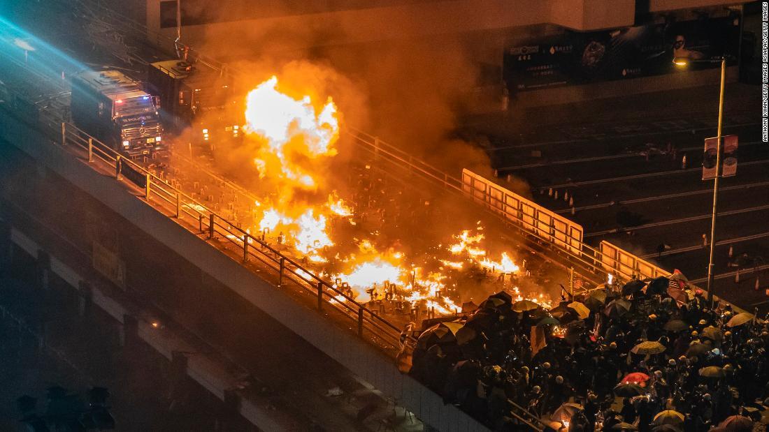 191117144437 hong kong police vehichle on fire super tease