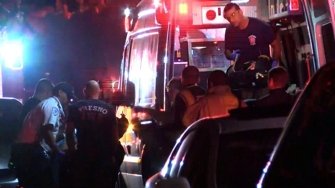 At least 10 people were shot, 4 fatally, at a backyard football watch party in Fresno, California