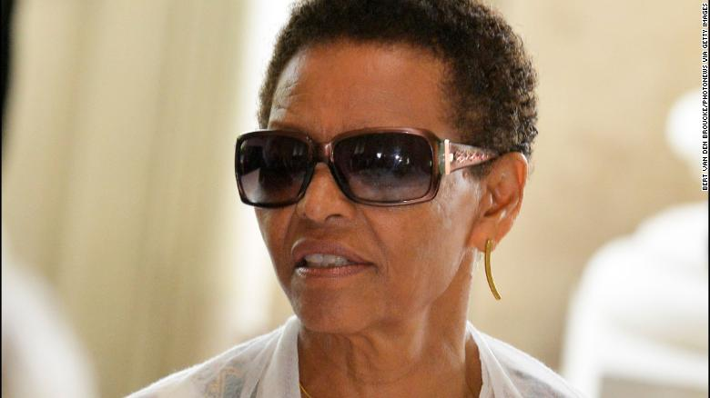 """Bogaletch Gebre receives an award in Brussels for """"confronting culturally entrenched taboo subjects"""" in her home country of Ethiopia on May 22, 2013."""