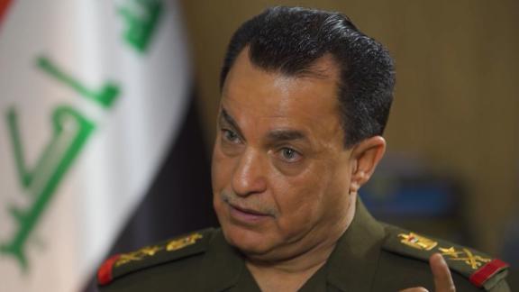 A screenshot of Lt. Gen. Saad Al-Allaq, head of Iraqi Military Intelligence.  