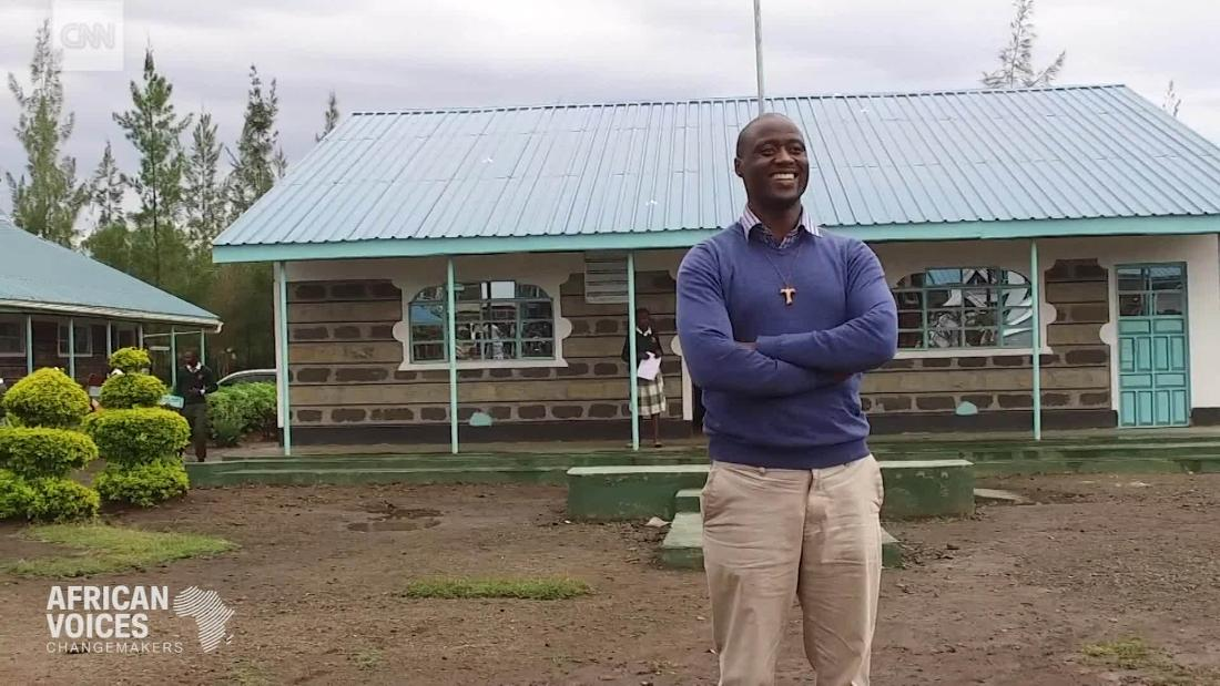 Kenya's 'World's Best Teacher' gives away 80% of monthly income to help the poor