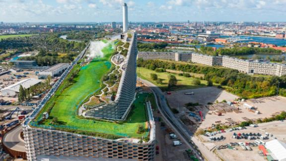 Copenhagen's recently opened waste-to-energy power plant doubles as a ski slope and a hiking trail.