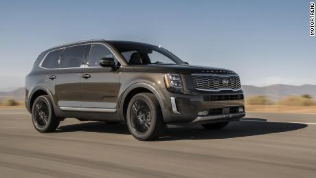 The Kia Telluride stands up well to the more expensive luxury SUVs, MotorTrend said.