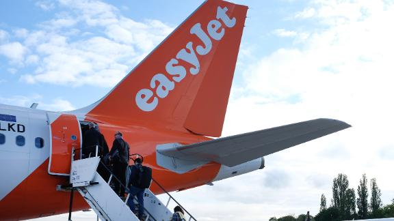 BERLIN, GERMANY - MAY 14:  Passenger planes of discount airlines EasyJet and Ryanair stand on the tarmac at Tegel airport on May 14,2019 in Berlin, Germany. Berlin, with its Tegel and Schoenefeld airports, is a hub for both airlines. (Photo by Sean Gallup//Getty Images)