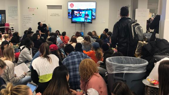 Syracuse students conduct a dayslong sit-in in a campus building after a spate of racist incidents.