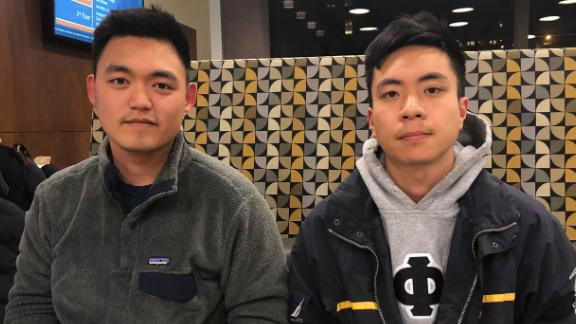 Yirui Shen, 23, and Yifan Yang, 22, both Syracuse graduate students from China who say they have experienced and witnessed racism on the New York campus.