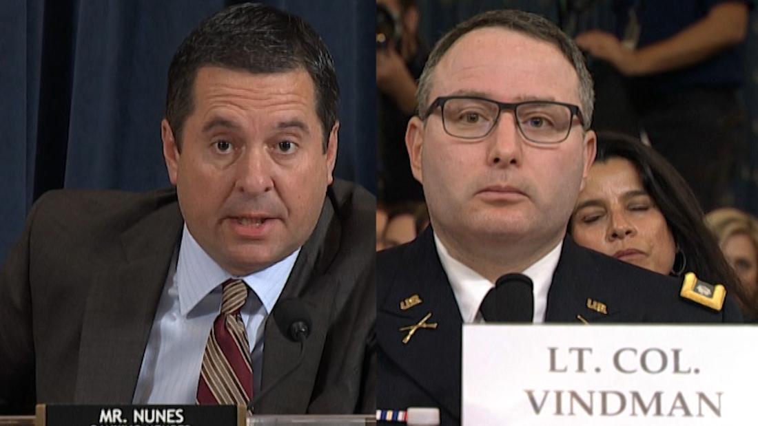 Watch Vindman correct Nunes during impeachment hearing
