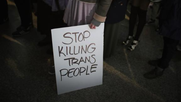 CHICAGO, IL - MARCH 03: Demonstrators protest for transgender rights with a rally, march through the Loop and a candlelight vigil to remember transgender friends lost to murder and suicide on March 3, 2017 in Chicago, Illinois. The demonstration was sparked by President Donald Trumps recent decision to reverse the Obama-era policy requiring public schools to allow transgender students to use the bathroom that corresponds with their gender identity. (Photo by Scott Olson/Getty Images)