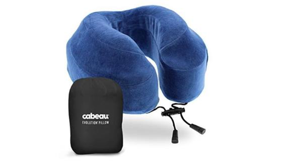 Cabeau Evolution Neck Pillow ($39.99; amazon.com): A sluggish train, car or bus ride is instantly improved with the addition of a luxe neck pillow like this one, which features 360-degree head and neck support and a washable cover. (For more options, check out our roundup of the most innovative travel pillows.)
