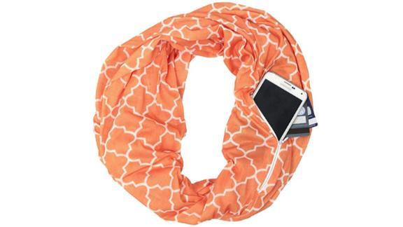 Pop Fashion Infinity Scarf with Zipper Pocket ($12.99; amazon.com): This sneaky scarf helps her stay warm, look cute and keep her valuables safe.