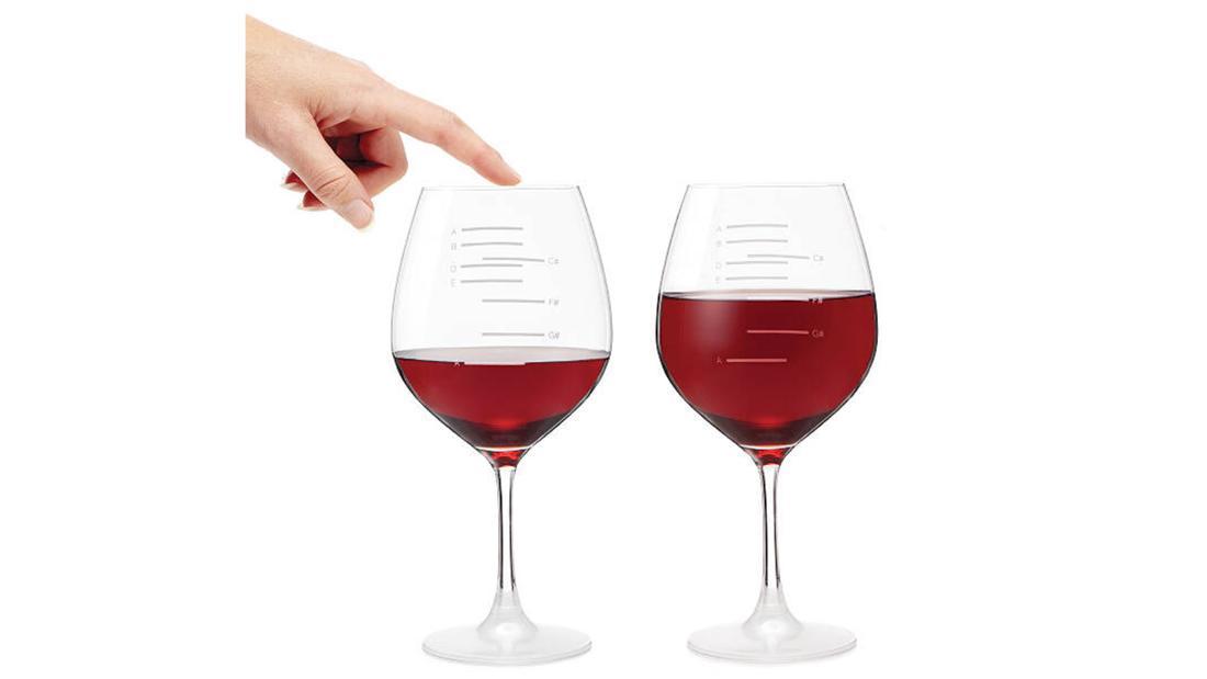 Copas de vino musicales