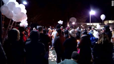 A candlelight vigil was held for Julia E. Crabbe, who suffered an apparent overdose.