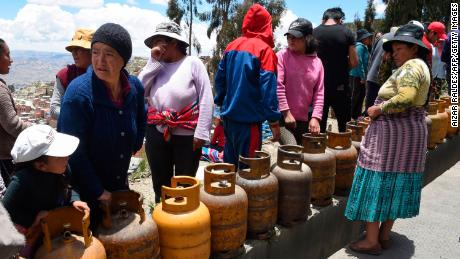 La Paz citizens are nervous about the looming shortages.