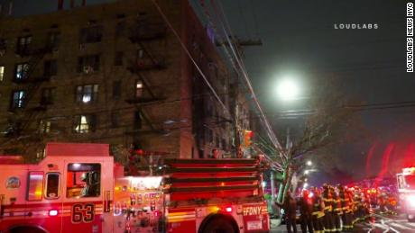 More than 20 people were injured from an apartment fire in New York