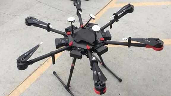 This drone was used by a man in 2017 to smuggle drugs across the border, according to CBP.