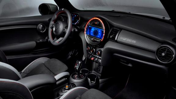 To save weight, the new Mini has not backseats. The two seats up front are special lightweight sports seats.
