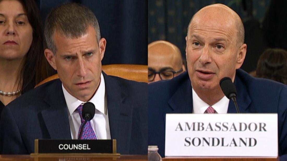 Sondland testifies Giuliani made demands on behalf of Trump