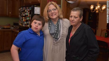 Jake Manning poses with his mom Jean Manning, right, and Kerry Bremer, who he sometimes calls Kerrymom.