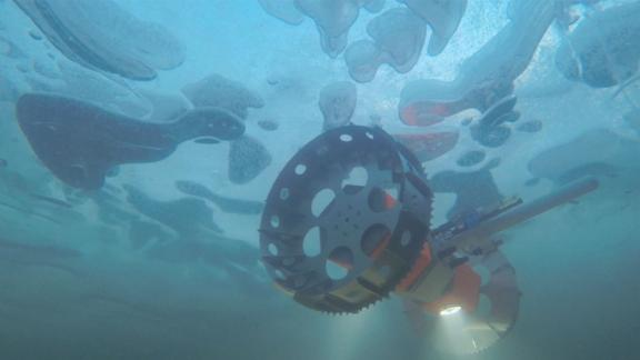 An underwater rover called BRUIE is being tested in Antarctica to look for life under the ice.