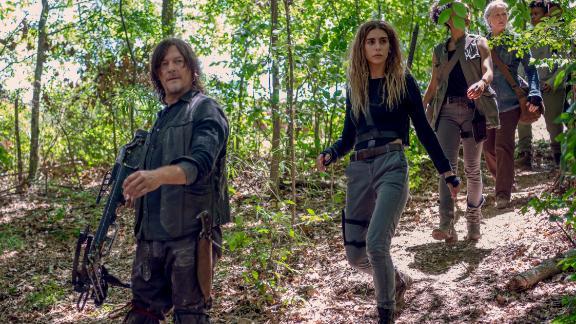 Norman Reedus, Nadia Hilker in 'The Walking Dead' (Gene Page/AMC)