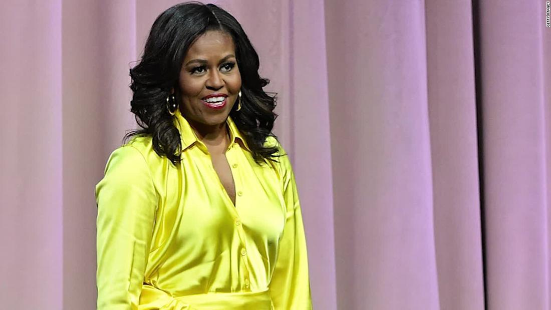 Michelle Obama und andere Prominente teilen Ihre prom dress Fotos zu ermutigen voting