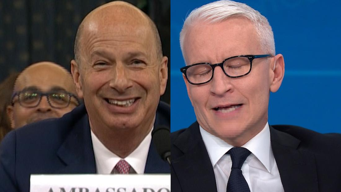 Watch Cooper's reaction to what Sondland told Trump