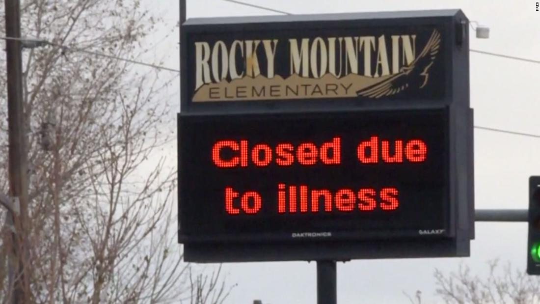 A Colorado school district has closed more than 40 schools after a highly contagious virus outbreak