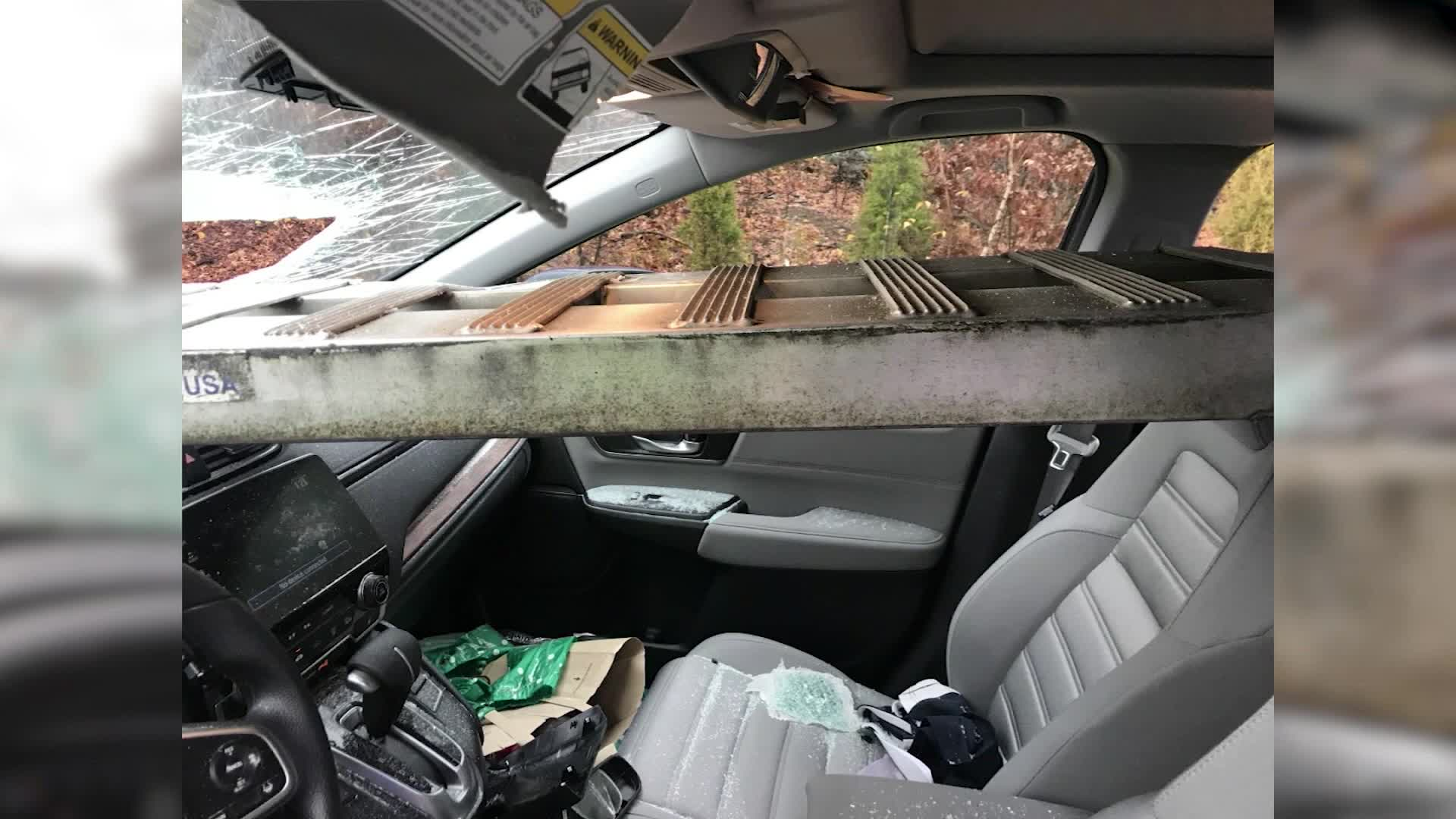 Wondrous Ramp Crashes Through Womans Windshield On Interstate Andrewgaddart Wooden Chair Designs For Living Room Andrewgaddartcom