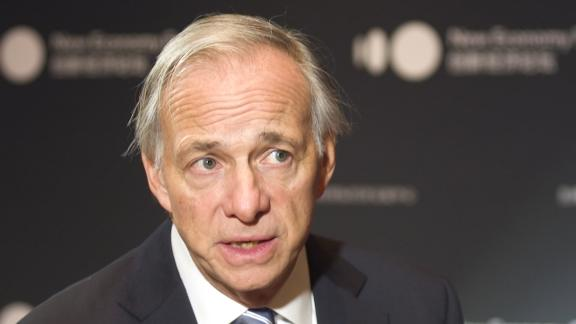 A screenshot of Bridgewater Associates founder Ray Dalio taken from his interview with CNN