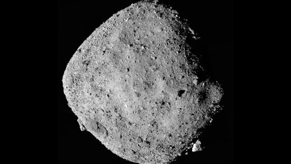 This mosaic image of Bennu is composed of 12 images collected by the OSIRIS-REx spacecraft from a range of 15 miles (24 kilometers).