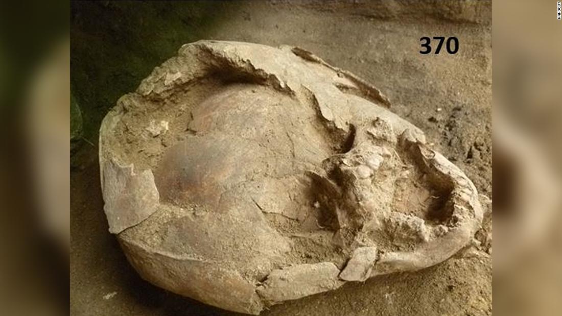 Babys begraben wurden mit Helmen aus Kinder-Schädel im alten Ecuador