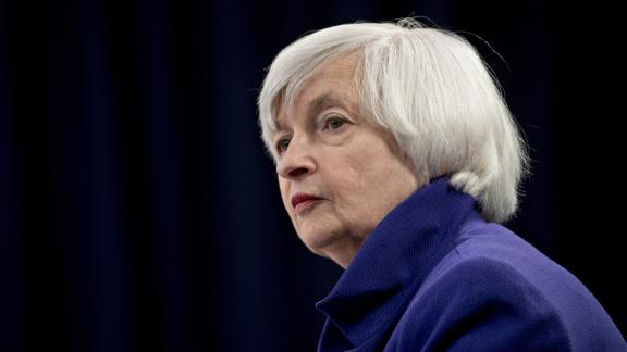 Janet Yellen, chair of the U.S. Federal Reserve, listens to a question during a news conference following a Federal Open Market Committee (FOMC) meeting in Washington, D.C., U.S., on Wednesday, Dec. 13, 2017. Federal Reserve officials followed through on an expected interest-rate increase and raised their forecast for economic growth in 2018, even as they stuck with a projection for three hikes in the coming year. Photographer: Andrew Harrer/Bloomberg via Getty Images